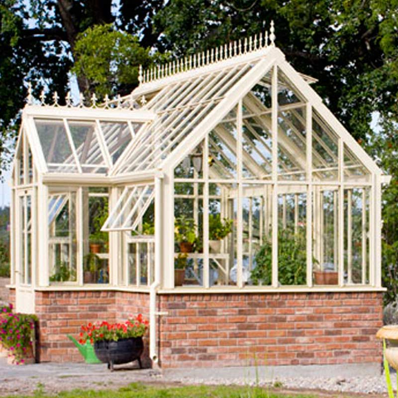 wrought iron year round greenhouse manufacturer for SPA ...