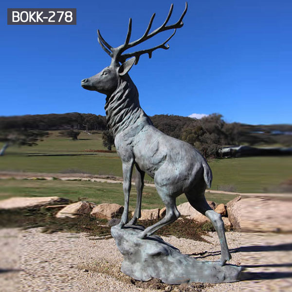 copper modern decoration elk outdoor sculpture cost- Bronze ...