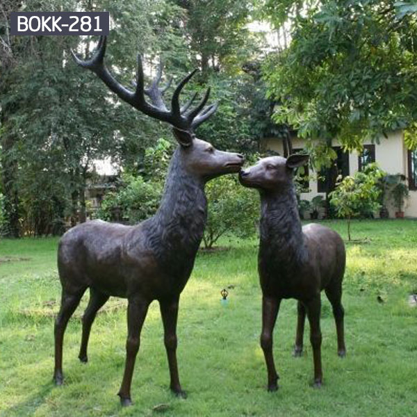 Bronze Deer Garden Statue‎,Deer Statue For Garden,Brass Lion ...