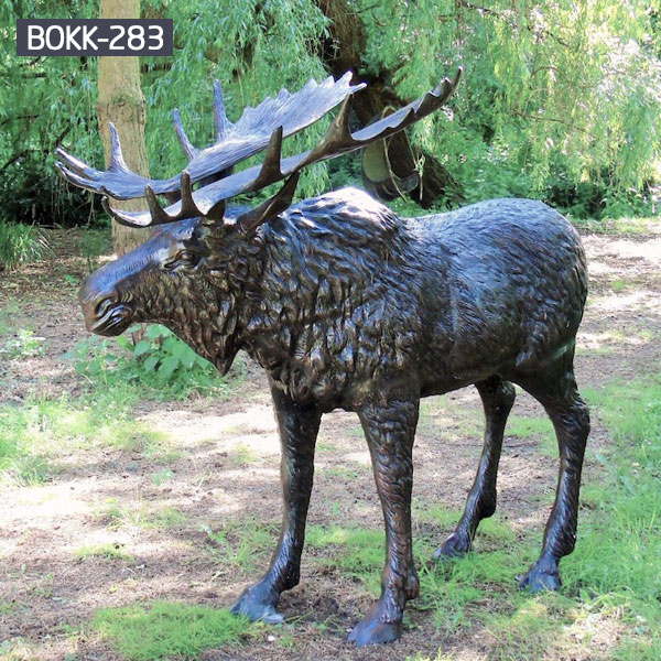 casting bronze christma deer yard sculpture design- Fine Art ...