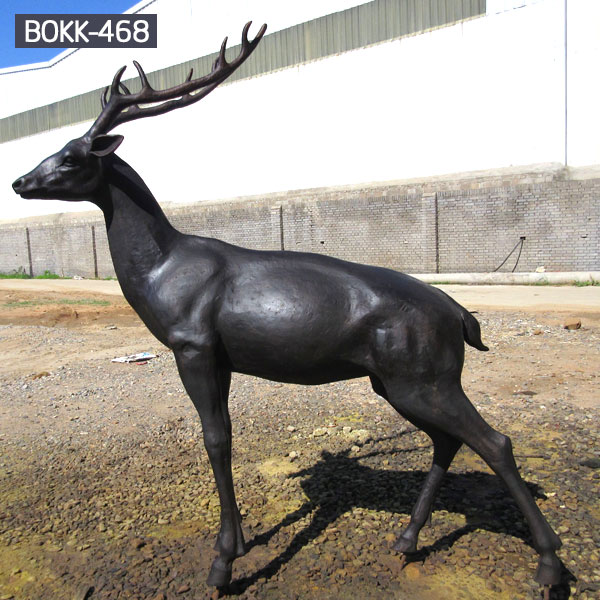 metal elk sculpture mule deer sculpture- Bronze deer/lion ...