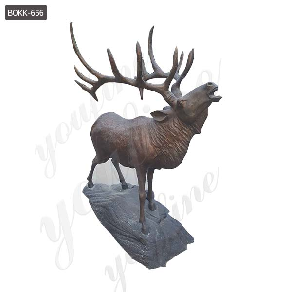 Bronze deer garden statue--Fine Art Bronze Animal/Military ...