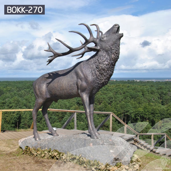 copper factory supply elk outdoor sculpture design- Bronze ...
