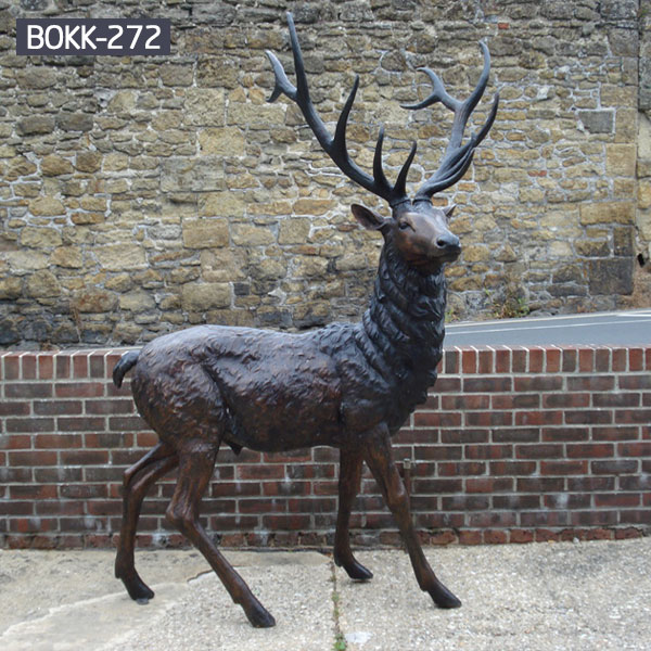 modern decoration bronze stag outdoor sculpture for yard ...