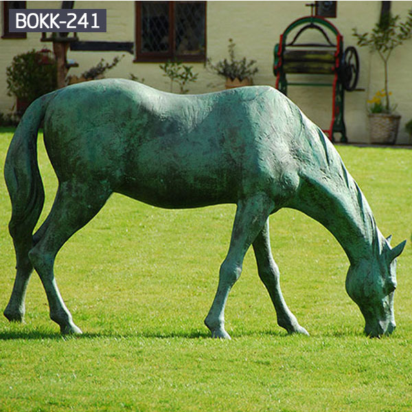 giant antique metal rearing horse statue costs