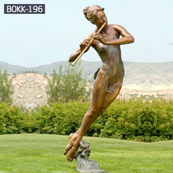 THE AWAKENING, ART DECO BRONZE FEMALE NUDE SCULPTURE ON