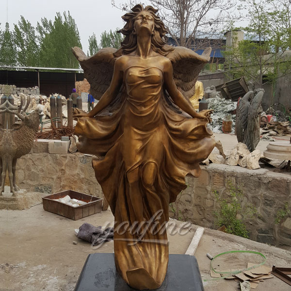 Amazing sexy angels bronze statues for home decor