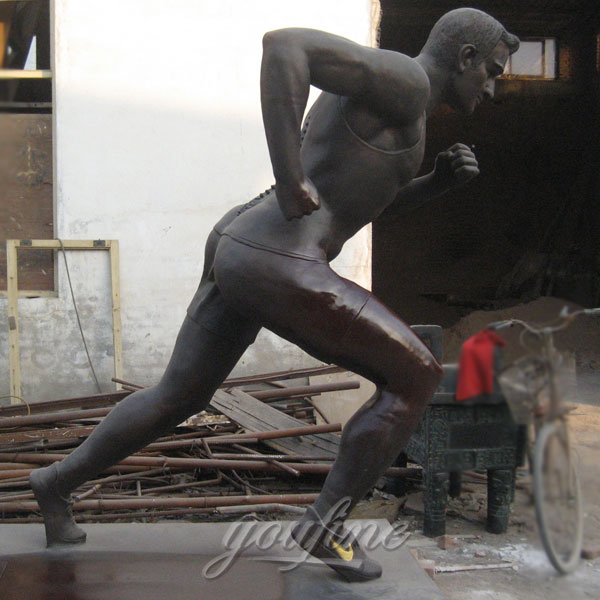 Life size running man statue bronze sculpture for sale
