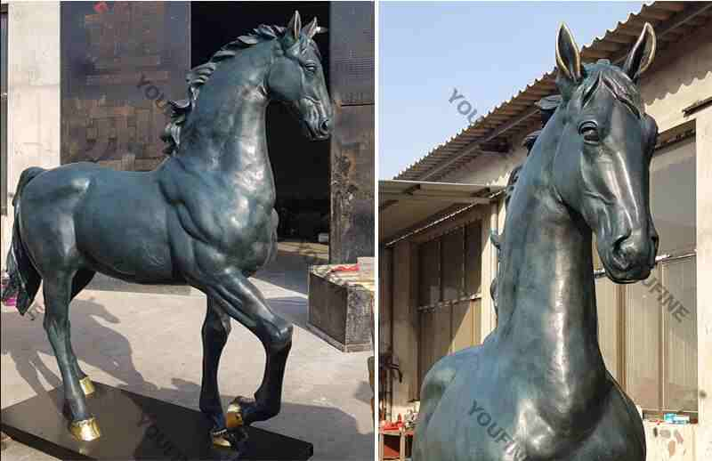 Bronze Standing Horse Statue Sculpture for Outdoor Garden