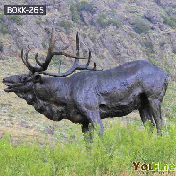 Life Size Bronze Elk Statue Sculpture for Garden Decor BOKK-265