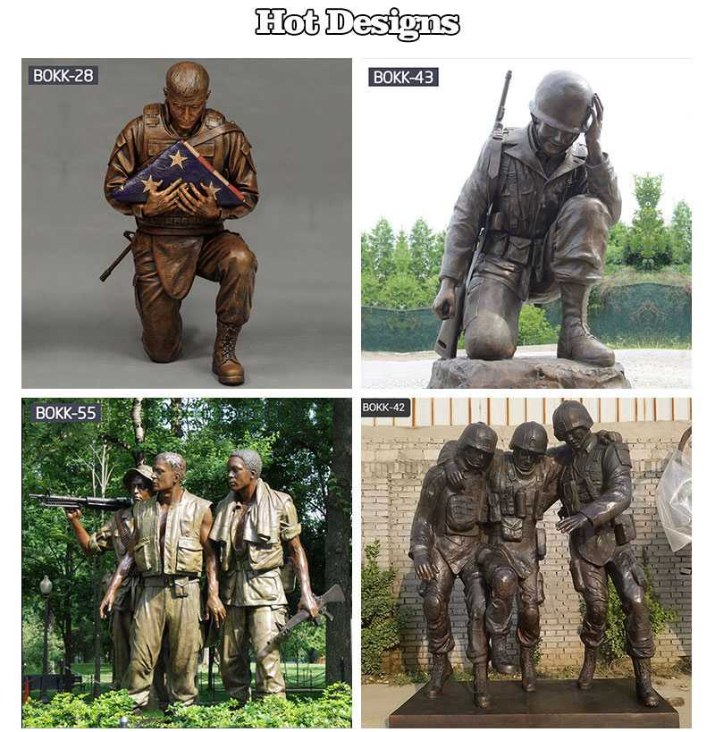 Outdoor Army Drill Sergeant Military Statue Garden Decor Other Designs