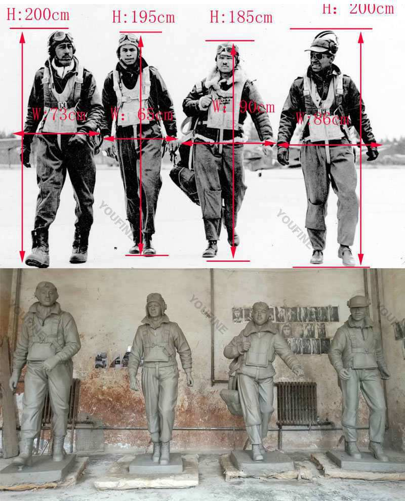 Outdoor Life Size Bronze Military Soldier Statue Molds
