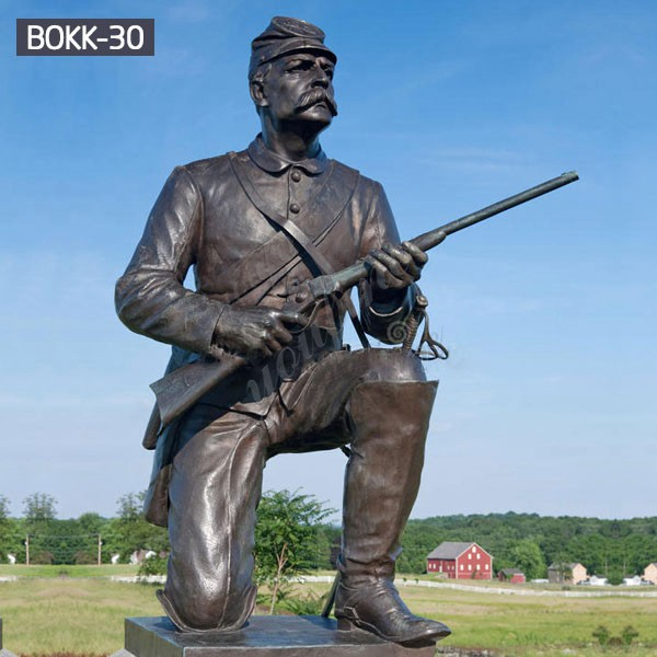 Outdoor Life Size Bronze Military Statue Lawn Ornaments for Sale BOKK-30