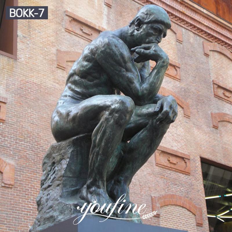 Famous Classic Bronze the Thinker Statue Garden Decor BOKK-07 Details