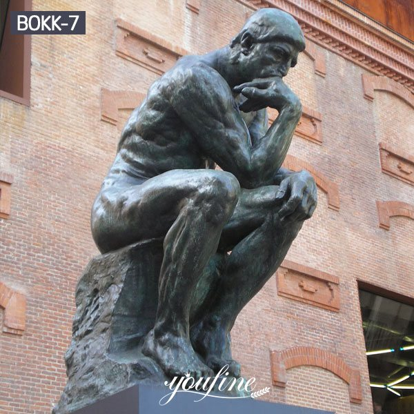 Famous Classic Bronze the Thinker Statue Garden Decor BOKK-07