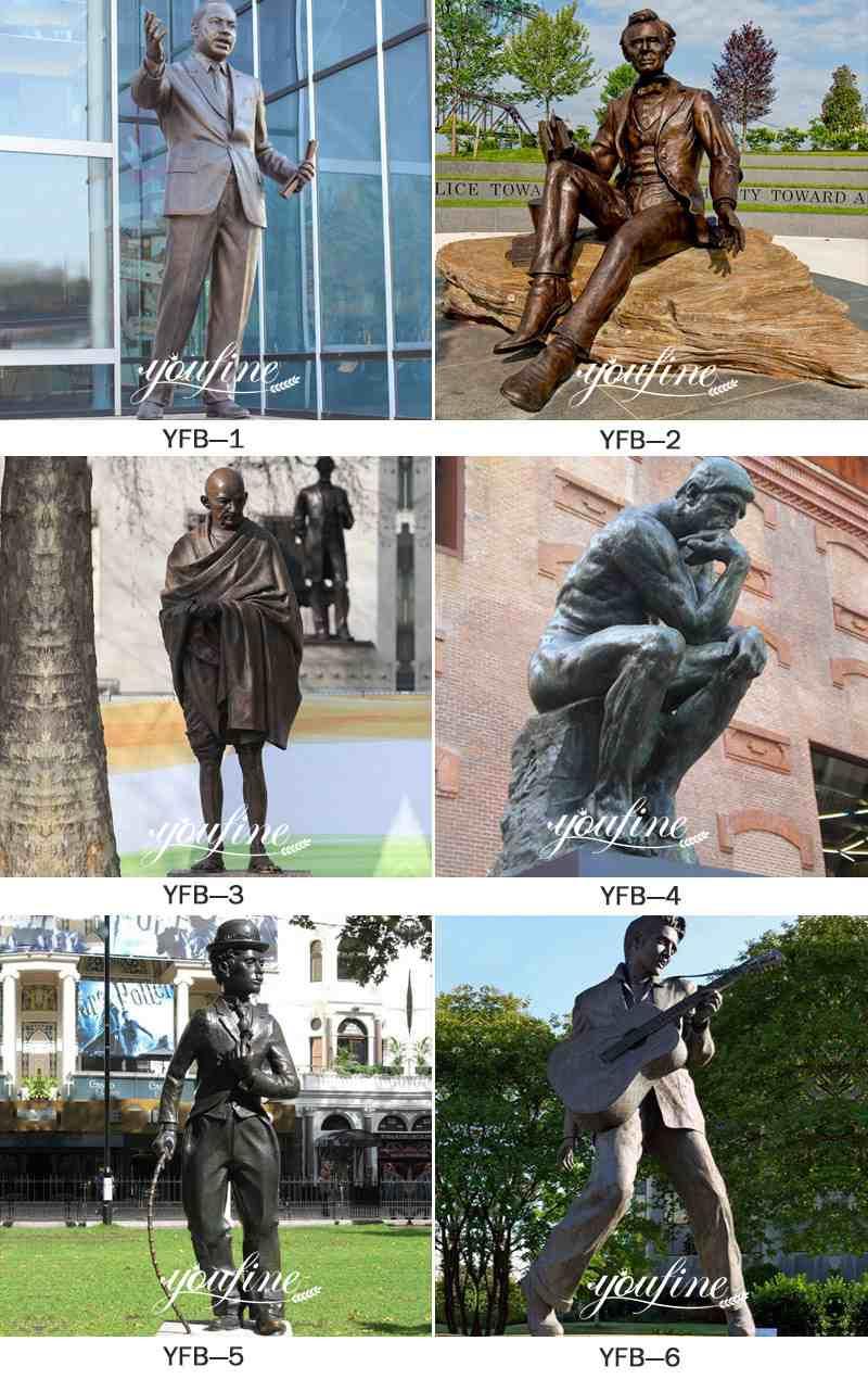 Famous Classic Bronze the Thinker Statue Garden Decor More Designs