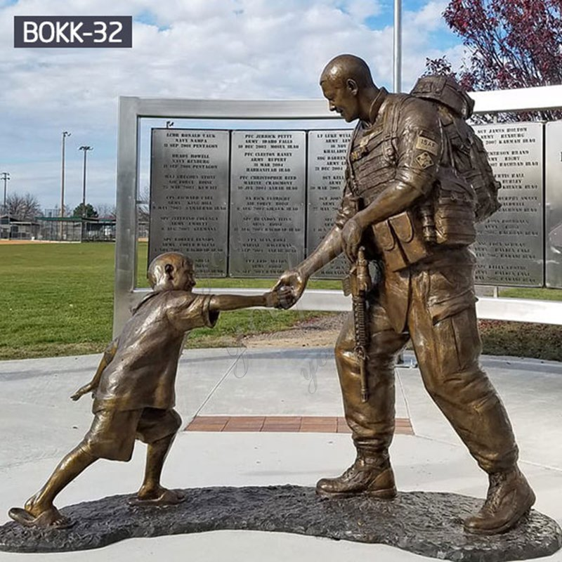 Famous Fallen Soldier Garden Statue Sgt. Dan Brown Memorial Soldier Replica For Sale BOKK-32 Details
