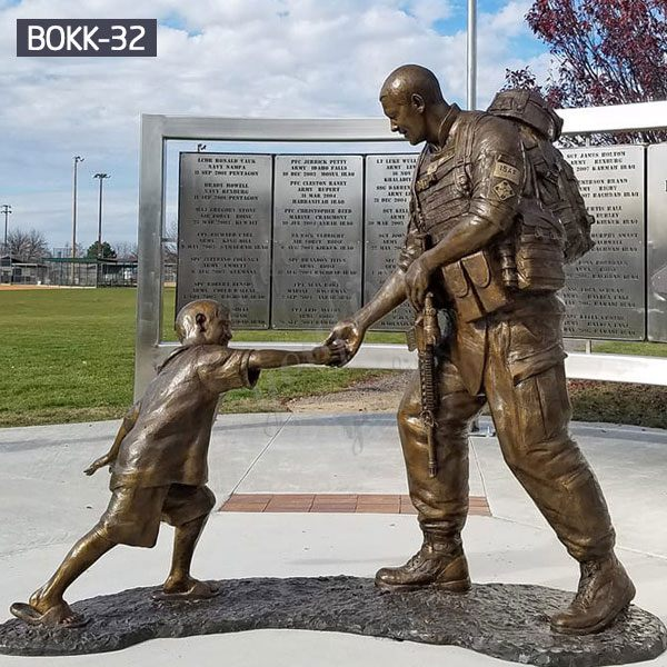 Famous Fallen Soldier Garden Statue Sgt. Dan Brown Memorial Soldier Replica for Sale BOKK-32