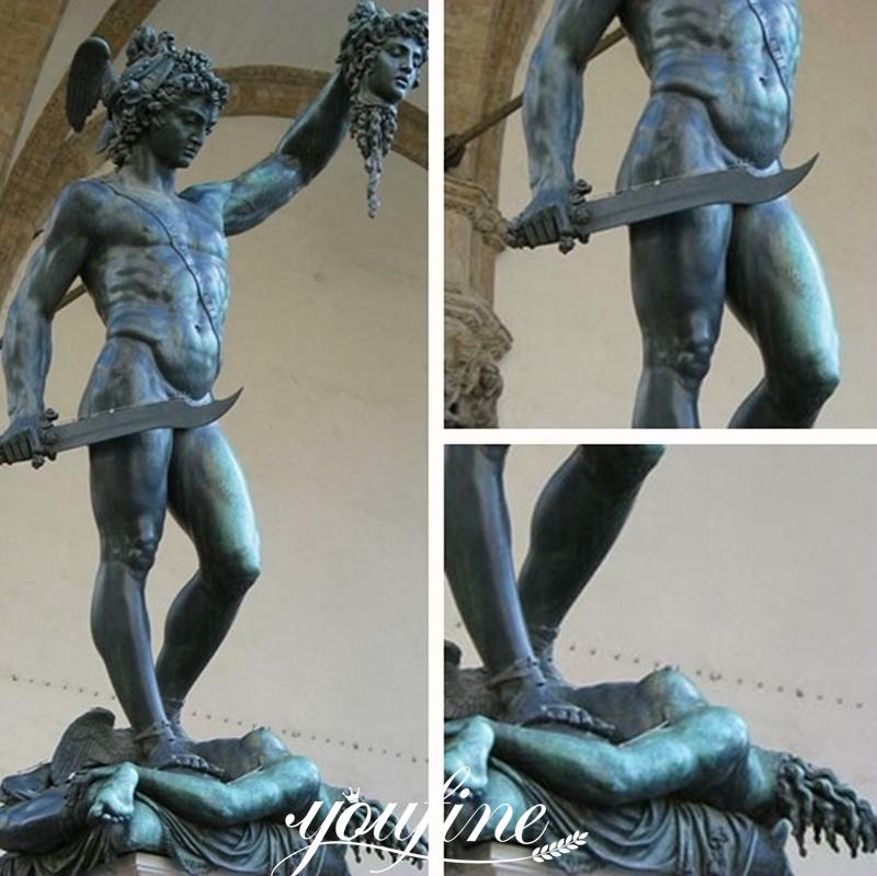 Classic Bronze Perseus with the Head of Medusa Statue for Sale Details