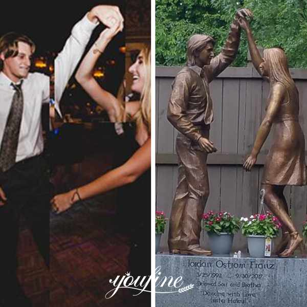 Custom Bronze Statues Sister and Brother Dancing Statue for Sale