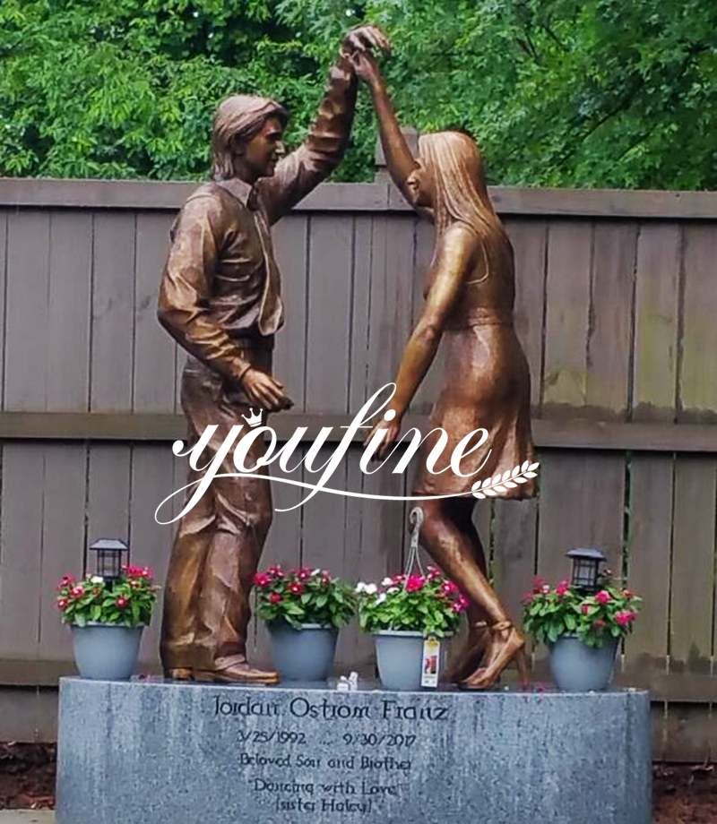 Custom Bronze Statues Brother and Sister Dancing Statues