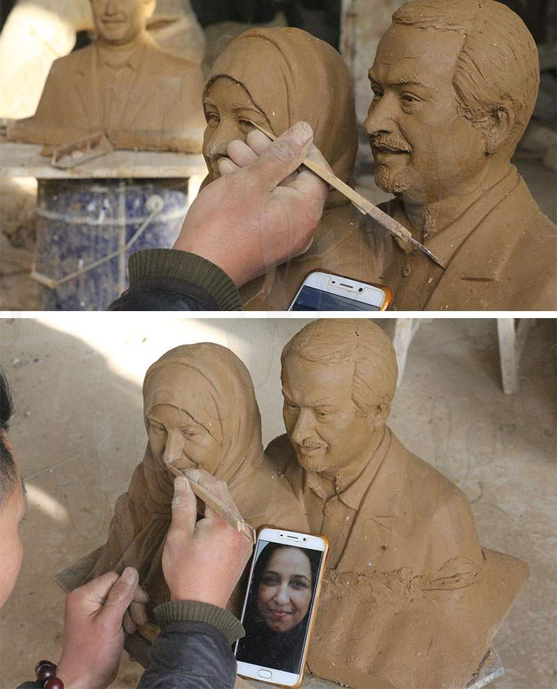 Custom Bronze Statue Old Couple Kissing Statue for Sale Clay Molds