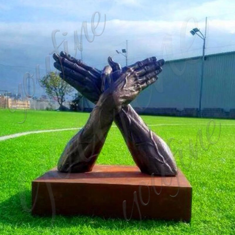 Custom Bronze Hand Sculpture Lawn Decor for Sale BOKK-530
