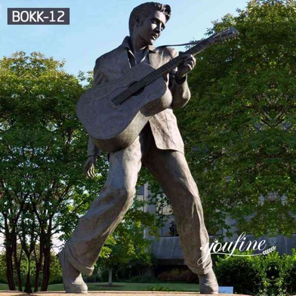 Customized Antique Bronze Elvis Statue for sale BOKK-12