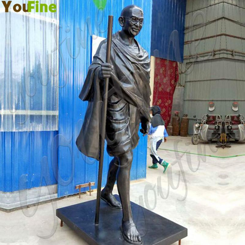 Life-size Custom Bronze Mahatma Gandhi Sculpture for Sale