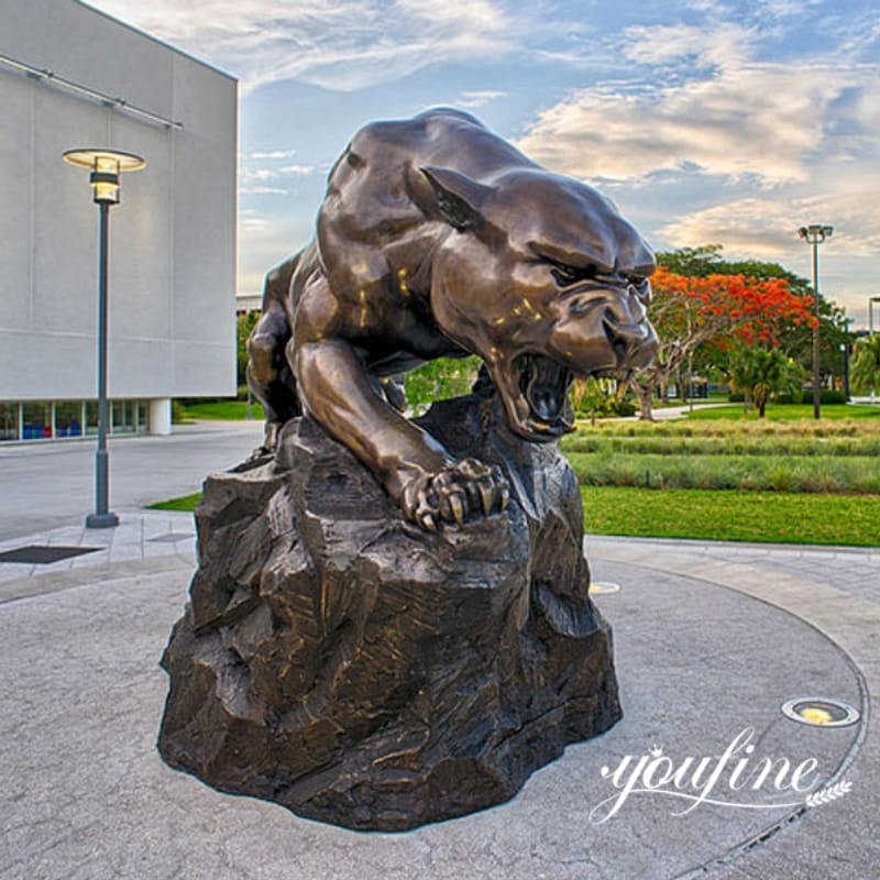 Fine Casting Bronze Panther Statue from Factory Supply