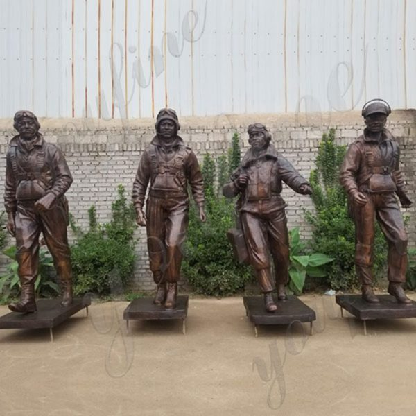 High Quality Custom Bronze Tuskegee Airmen Statue from Factory Supply