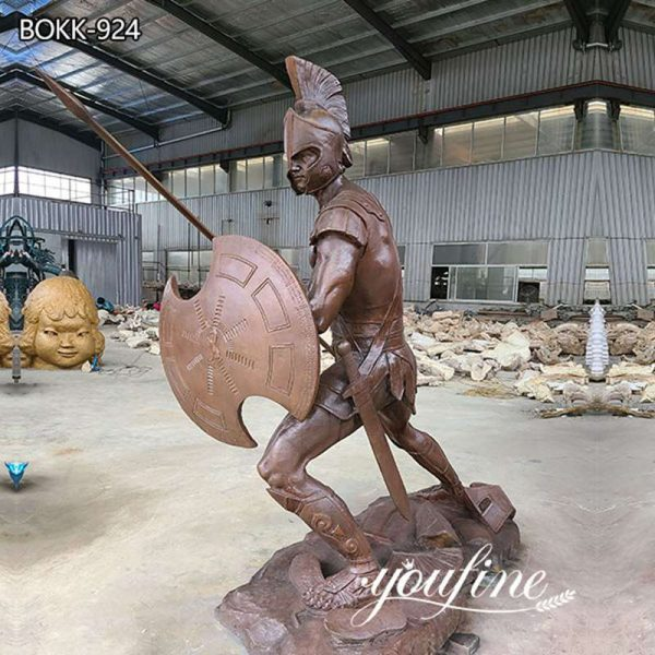 Life Size Bronze Spartan Warrior Sculpture Ancient Greek Decor for Sale BOKK-924